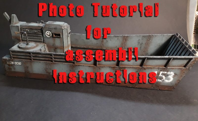 Tutoriel photo pour les instructions de montage du Landing Ship Tank – kit de modèle MDF