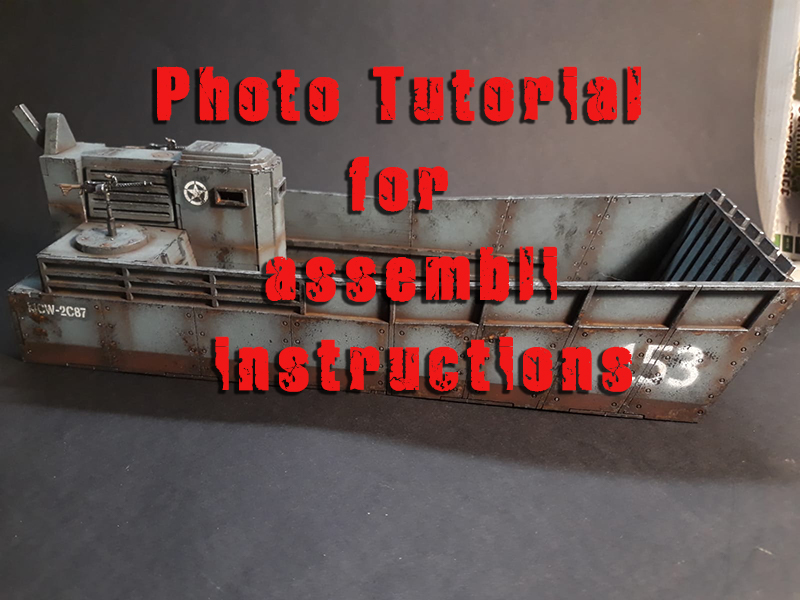Photo tutorial for the assembly instructions of the Landing Ship Tank – MDF model kit