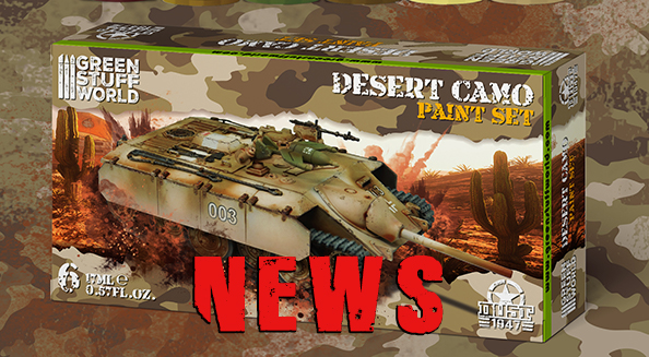 Custom acrylic paint sets for the Dust 1947 game created by Green Stuff World are coming !!!
